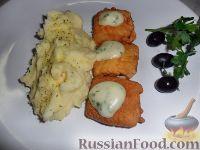 Фото к рецепту: Креветочная рыба в кляре