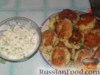Фото к рецепту: Картофельные котлетки с салатом