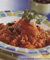 Фото к рецепту: Курица по-гречески с рисом