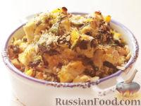 Фото к рецепту: Пюре из тыквы с курицей и фундуком