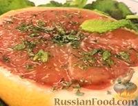 Фото к рецепту: Грейпфрут с мятой