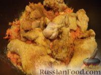Фото приготовления рецепта: Плов из курицы в мультиварке - шаг №5