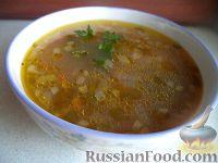 Фото к рецепту: Грибной суп с рисом