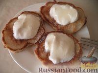 Фото к рецепту: Оладьи из тыквы на молоке