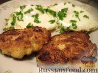 Фото к рецепту: Куриные оладьи с сыром и молоком