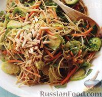 Фото к рецепту: Спагетти с брюссельской капустой