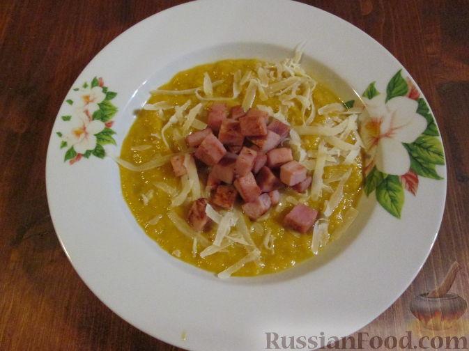 Фото приготовления рецепта: Суп-пюре из тыквы и лука-порея - шаг №7
