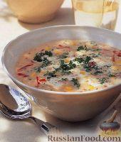 Фото к рецепту: Суп-пюре с картофелем и кукурузой