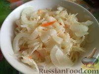 Фото к рецепту: Капуста в быстром маринаде с чесноком