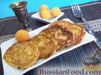 Фото к рецепту: Оладьи с абрикосами