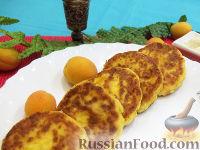 Фото к рецепту: Сырники с абрикосами