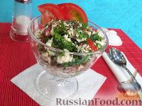 Фото к рецепту: Салат из творога с помидорами
