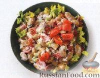 Фото к рецепту: Картофельный салат с помидорами