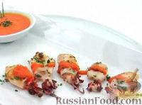 Фото к рецепту: Кальмары под острым соусом
