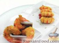 Фото к рецепту: Жареные креветки с кокосом