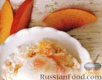 Фото к рецепту: Персиковое мороженое из йогурта
