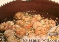 Фото к рецепту: Креветки с чесноком