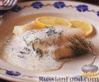 Фото к рецепту: Пикша со сливочным соусом