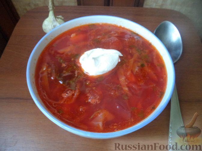 красный борщ со свинины рецепт