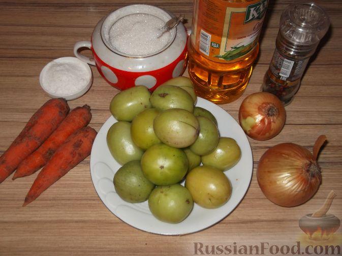 рецепт икры из зеленых помидор с яблоками