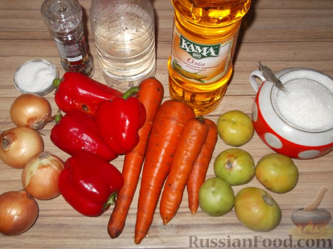 салаты из моркови и перца болгарского на зиму