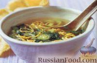 Фото к рецепту: Тайский суп с омлетом