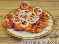 Фото приготовления рецепта: Куриный шашлычок в красном маринаде - шаг №9