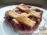 Фото к рецепту: Чешский пирог со сливами