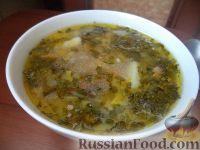 Фото к рецепту: Постный грибной суп с фасолью