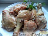 Фото к рецепту: Курица, запеченная в духовке (кусочками)