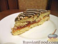 """Фото к рецепту: Песочный торт с повидлом """"Лакомка"""""""