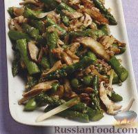 Фото к рецепту: Спаржа, жаренная с грибами