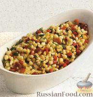Фото к рецепту: Соте из кукурузы и болгарского перца