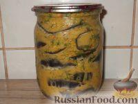 Фото к рецепту: Баклажаны кружками в острой приправе
