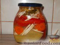 Фото к рецепту: Перец, маринованный с маслом (болгарский способ)
