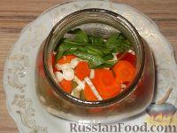 Фото приготовления рецепта: Перец, маринованный с маслом (болгарский способ) - шаг №7