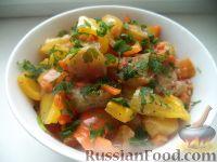 Фото к рецепту: Овощное соте с баклажанами