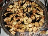 Фото приготовления рецепта: Баклажаны с чесноком - шаг №4