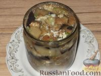 Фото приготовления рецепта: Баклажаны с чесноком - шаг №10