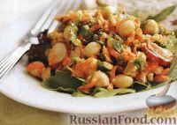 Фото к рецепту: Салат из нута, моркови и редиски
