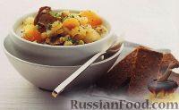 Фото к рецепту: Грибной суп с фасолью, чечевицей и перловкой