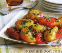 Фото к рецепту: Печеный сладкий перец