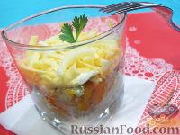 "Фото к рецепту: Салат ""Мимоза"" в стакане"