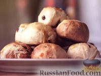 Фото к рецепту: Английские крестовые булочки