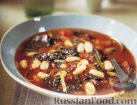 Фото к рецепту: Тосканский фасолевый суп с капустой