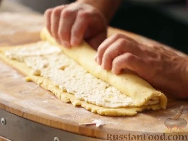 Рулет из песочное тесто