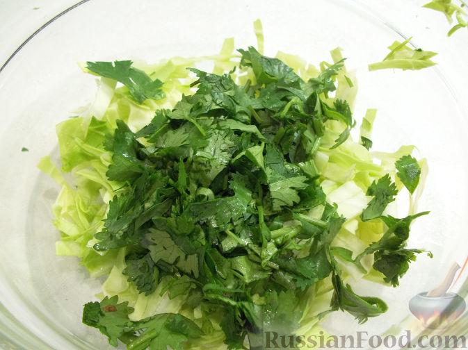 Фото приготовления рецепта: Салат с клубникой - шаг №2