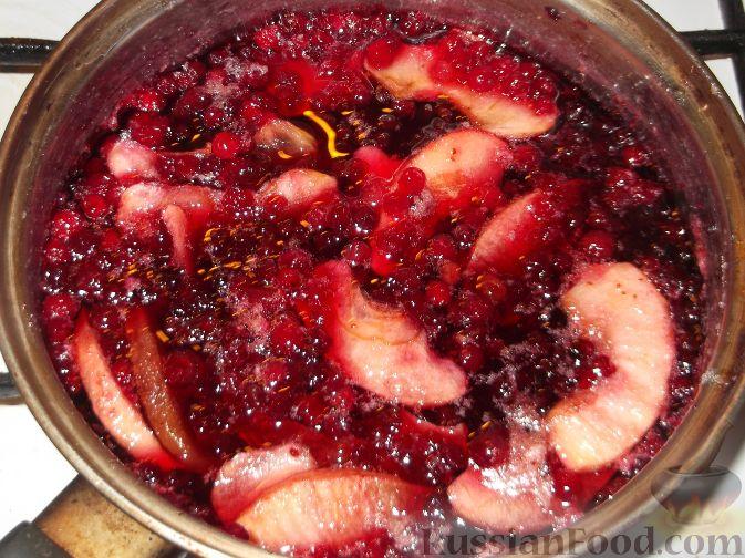брусника с яблоками варенье рецепт с фото
