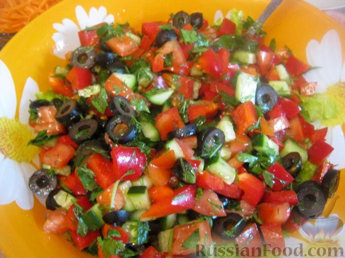 французский салат с брынзой рецепт