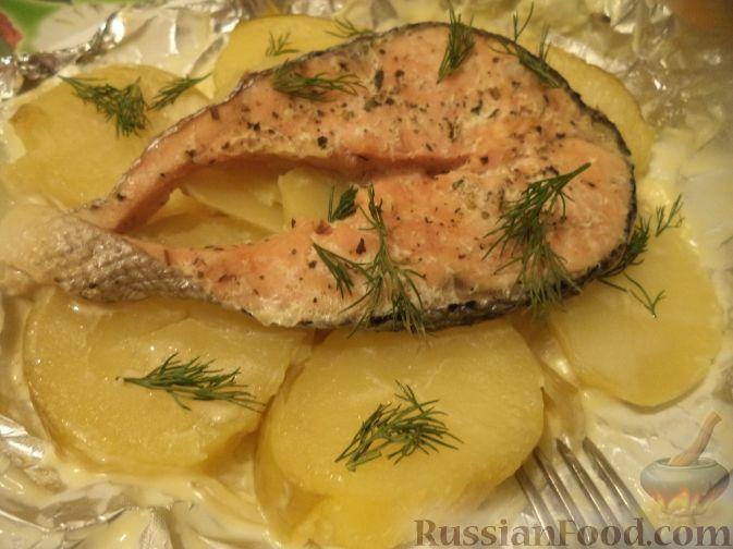 рыба в фольге в духовке рецепт с фото с картофелем